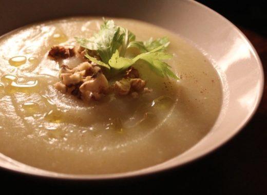 zuppa sedano rapa con castagne